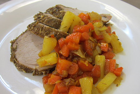 Roasted Pork Tenderloin With Sweet Carrot Chutney